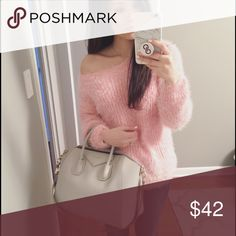 Off the Shoulder Cozy Sweater Super cute and cozy, perfect for this season. NWOT. One size but I would say it's perfect for a S/M. Boutique brand, no label Sweaters Crew & Scoop Necks