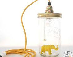 Lampe Le Bocal Allumé Baladeuse - L'éléphant Jaune