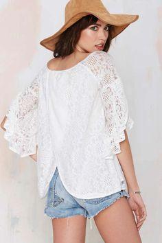Raina Lace Blouse - Shirts + Blouses