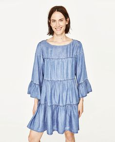 ZARA - WOMAN - DRESS WITH SEAM DETAILS