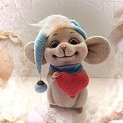 Куклы и игрушки ручной работы. Ярмарка Мастеров - ручная работа Игрушка Мышонок валяние. Handmade.