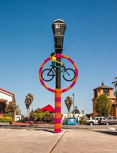 Downtown San Mateo Yarnbombs