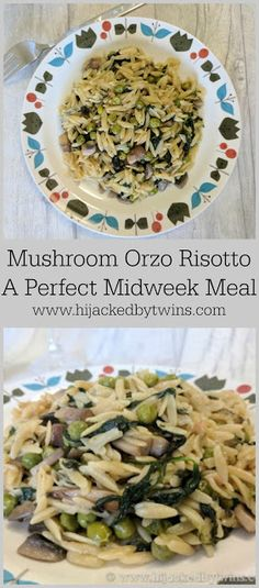 Hijacked By Twins: Mushroom Orzo Risotto - A Perfect Mid Week Meal Orzo Risotto, Midweek Meals, Real Family, Tasty, Yummy Food, Leftovers Recipes, Batch Cooking, Make Ahead Meals, Budget Meals