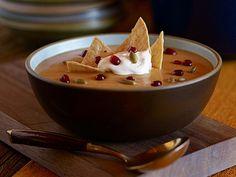 Butternut Squash, Sweet Potato and Pomegranate Soup