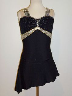 CUSTOM MADE TO FIT BEAUTIFUL FIGURE ICE SKATING  DRESS
