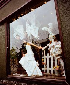 window display, use Kites foe next year spring summer