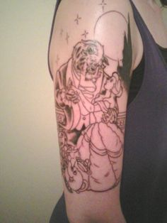 beauty and the beast tattoo, this is the exact scene i want at the end of my sleeve....i cant wait!!