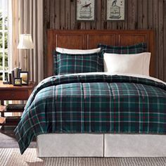 Premier Comfort Franklin Plaid King-size 3-piece Down Alternative Comforter Set Winter Comforter Set