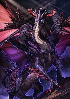 The Dragon Of Darkness Monster Concept Art, Fantasy Monster, Monster Art, Dark Fantasy Art, Fantasy Artwork, Mythical Creatures Art, Mythological Creatures, Guerrero Dragon, Space Dragon
