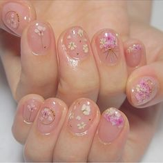 Fall Nail Art, Cute Nail Art, Glitter Nail Art, Cute Nails, Korean Nail Art, Korean Nails, Simple Nail Art Designs, Nail Designs, Design Page
