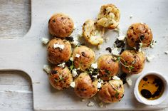 Tear-and-share feta and olive rolls