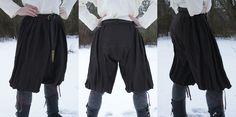 Hand sewn wide viking pants. Made from fine linen cloth by Henrik Nordholm  https://www.facebook.com/pages/Henrik-Nordholm/254634504677319
