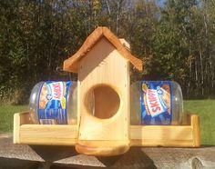 Double Skippy jar squirrel feeder.  $59.95