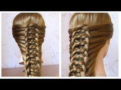 Coiffure avec tresse Belle coiffure facile à faire cheveux mi long / long Coiffure pour fille - YouTube