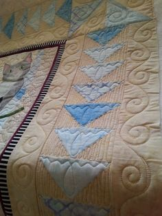 Quilting by Patsy Morris | Threads~n~Fiber.  Flying Geese, simply yet effective design