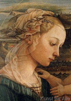 Fra Filippo Lippi - Madonna mit Kind und zwei Engeln