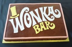 This Wonka Bar cake is so simple and sweet that it makes me really want a Wonka Bar!