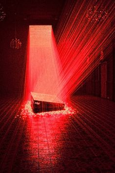 Laser Installation by Li Hui at the Singapore Art Museum