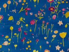 "Stoff Blumen - nani IRO :: ""sen ritsu"" blau (Double ... - ein Designerstück von stoffbuero bei DaWanda"