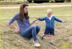 Prince George Kicks the Polo Ball with Mom Kate Middleton!