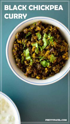 Black chickpea curry is a super quick Gujarati dish that is also known as kala chana. A great alternative to the standard chickpea curry. Black chickpeas have a different texture and a tougher skin. This is a vegan and gluten free recipe. Recipe by prettypatel.com via @pretty_patel