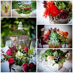 Some of these I love... like the radish bouquet, and the mixture of vegetables and flowers.