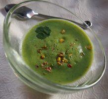 Velouté brocoli pistache (express – 3 ingrédients) Palak Paneer, Pudding, Ethnic Recipes, Desserts, Food, Pistachio, Quick Recipes, Tailgate Desserts, Deserts