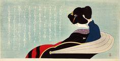 RIKSJA / RICKSHAW, Komura Settai (1887-1940). Kleurenhoutsnede op papier, ca. 1935. P0514. Collectie Elise Wessels – Nihon no hanga