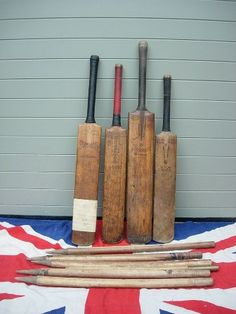 Vintage Cricket Bats and Stumps