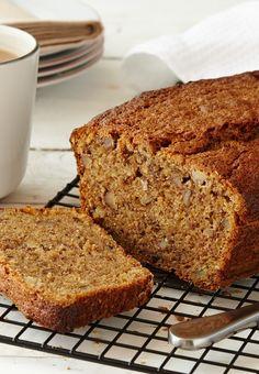 A quick, tasty, moist banana bread recipe with chopped walnuts