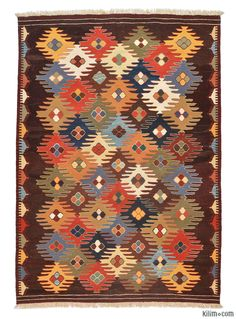 Magically transform your living space with our handmade, authentic and timeless new kilim rugs that carry with them many of the traditional elements that made true vintage Turkish Kilim rugs so precious. Each kilim is skillfully hand-woven in Turkey to create a beautiful piece of art. We use vegetable dyed and hand spun wool to make sure they age gracefully.This fine multicolor rug is no longer in stock but we can custom make it to meet your size and color requirements. We can further custo…