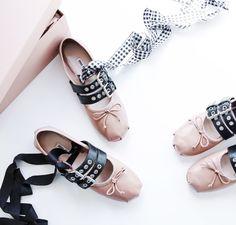 Miu Miu | lace up ballet flats