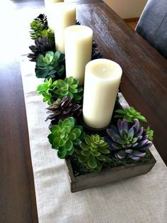 Adding some Spring to your home is easy to do with my Spring Succulent Garden Idea. My new dining room centerpiece is so colorful now!