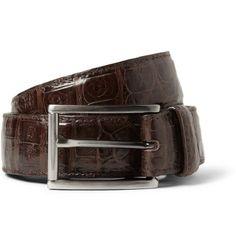 Santiago Gonzalez Brown 3cm Crocodile Belt | MR PORTER