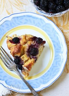 BEST Blackberry Vanilla Bread Pudding Recipe