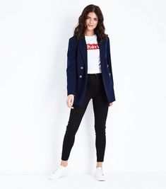 4f0a9ace69 Navy Double Breasted Blazer