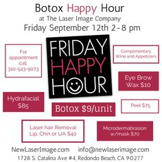 #Botox #HappyHour NewLaserImage.com