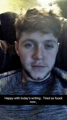 Nialler looking gorgeous on Snapchat