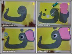 اعمال يدوية لحروف الهجاء | روضة العلم للاطفال Arabic alphabet crafts: ف is for فَراشة (butterfly)