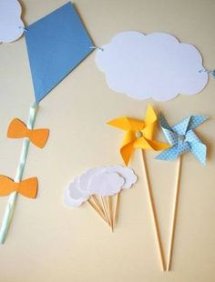 Resultado de imagen para convite de aniversario pipa Party Kit, Baby Party, Baby Shower Parties, Baby Boy Shower, Diy Arts And Crafts, Crafts For Kids, Paper Crafts, Diy Crafts, Kite Party
