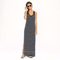 Pin for Later: Wonach ihr euch den ganzen Sommer gesehnt habt, ist jetzt reduziert J.Crew Striped Maxi Dress J.Crew Maxi Tank Dress in stripe ($88, vorher $110)