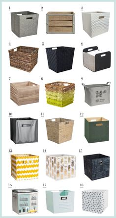 The IKEA Kallax line Storage furniture is an essential element of any home. Trendy and delightfully simple the shelf Kallax from Ikea , for example. Ikea Storage Cubes, Cube Storage Baskets, Ikea Cubes, Storage Hacks, Diy Storage, Storage Ideas, Storage Bins For Toys, Toy Storage Solutions, Decorative Storage Boxes