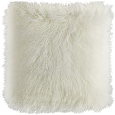 Faux Fur Mongolian Pillow - Ivory