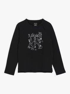 sweat mixte brodé Carne Bollente noir | agnès b. Sweatshirts, Sweaters, Collection, Fashion, Embroidery, Black People, Moda, Fashion Styles, Sweater