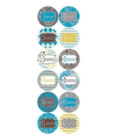 Take a look at this Month 2 Month Baby Alfonso Collection Monthly Sticker Set on zulily today!