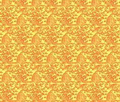 Bees Brocade fabric by amyvail on Spoonflower - custom fabric