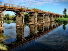 Wooden bridge, Croatia