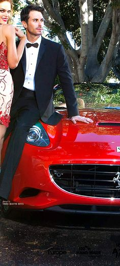 Red in terms of the red effect is used to assert dominance when it comes to men, therefore the use of a red car and a woman in red emphasizes the males dominance or importance in society and the woman's beauty and/or sexuality