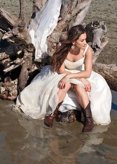 Trash the Dress - Cowboy Style by Out of the Blue Photography, via Flickr