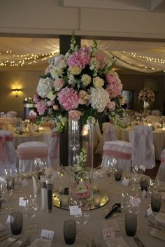 Flower Design Events: Blush Peony Heaven For Ashley & Phil's Wedding Day at The Grand Hotel St Annes